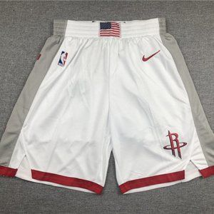 New Men's Houston Rockets White Shorts